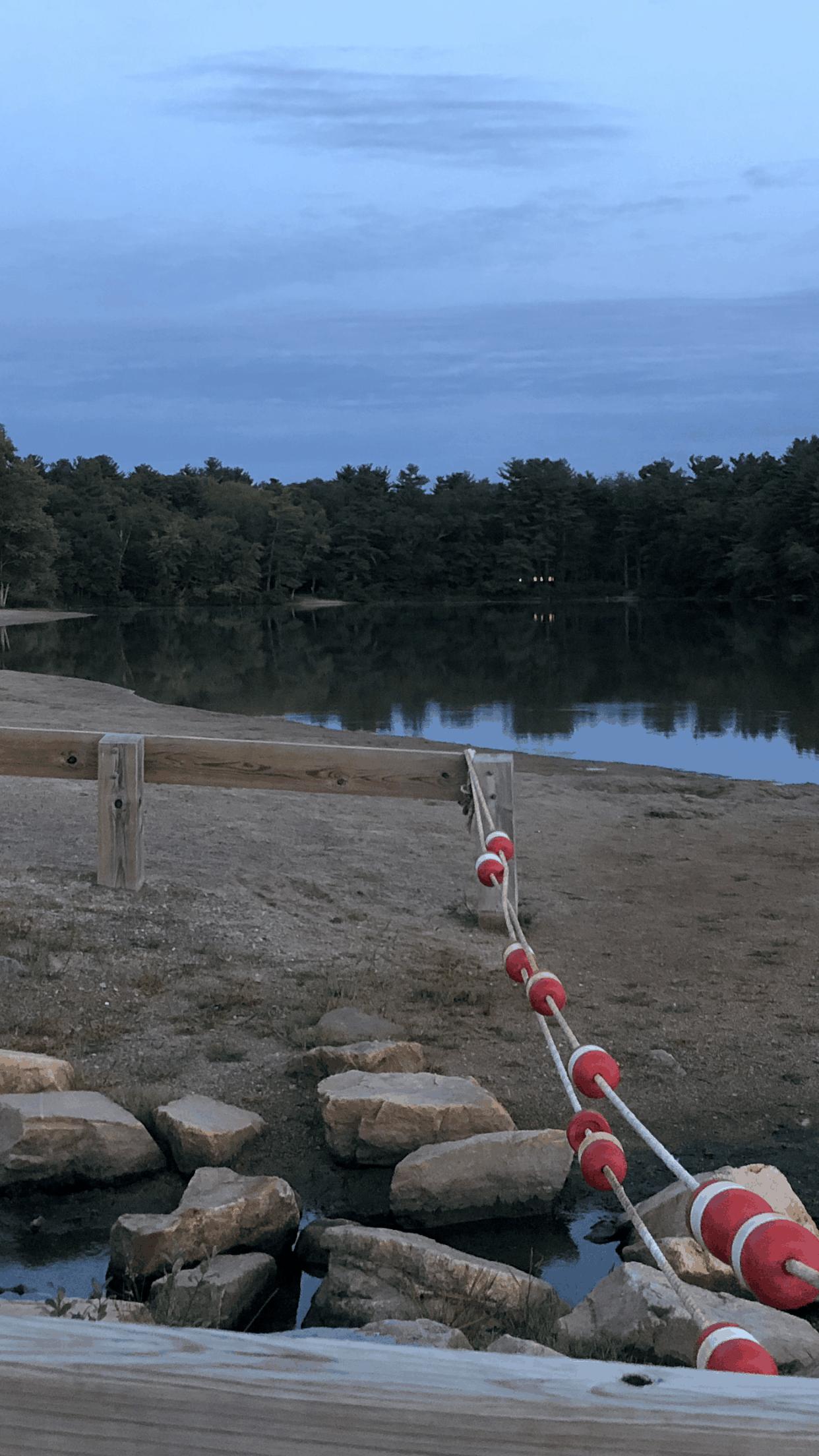 buoys at dusk