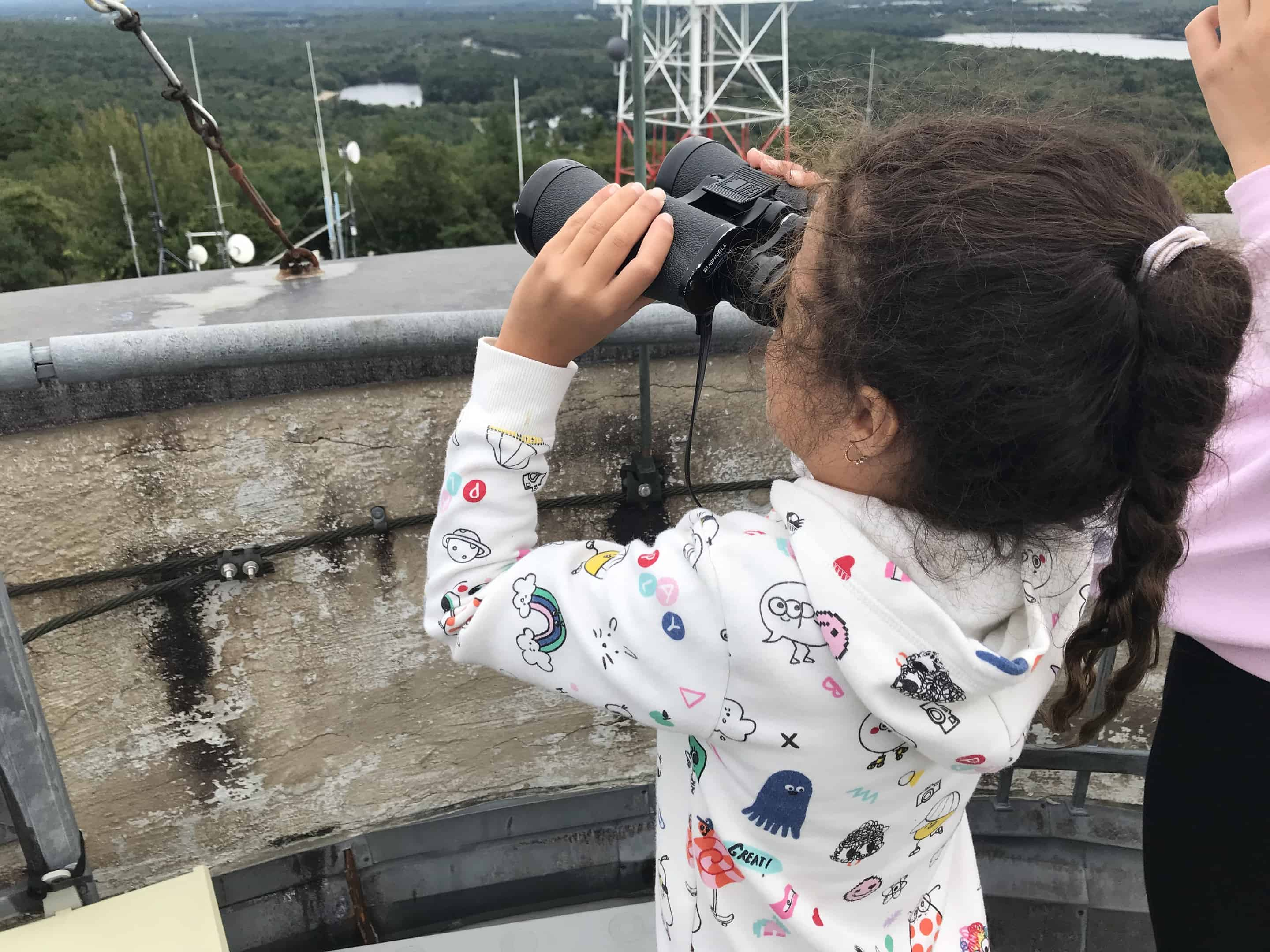 trinity checking out monadnock from the observatory