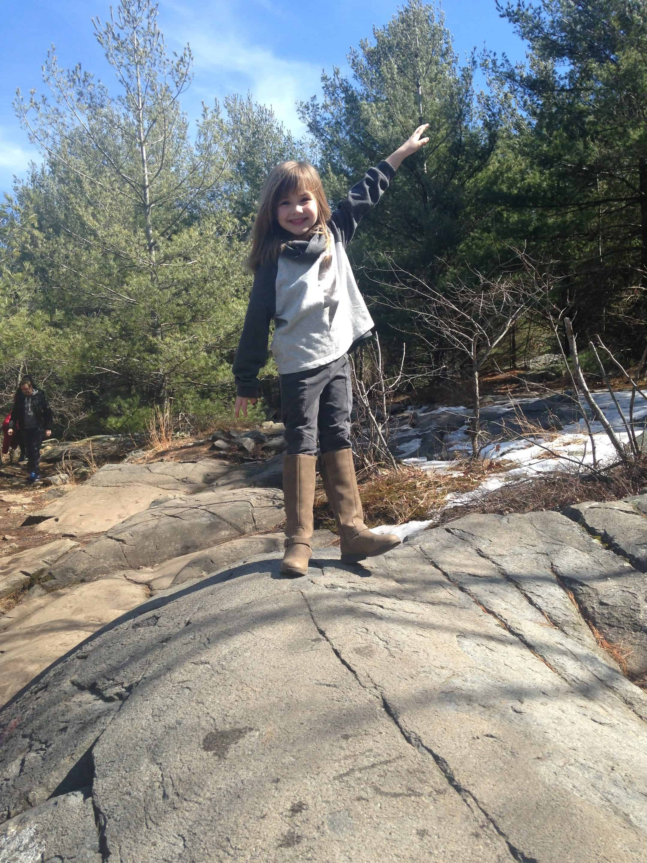 great granddaughter ready for hike