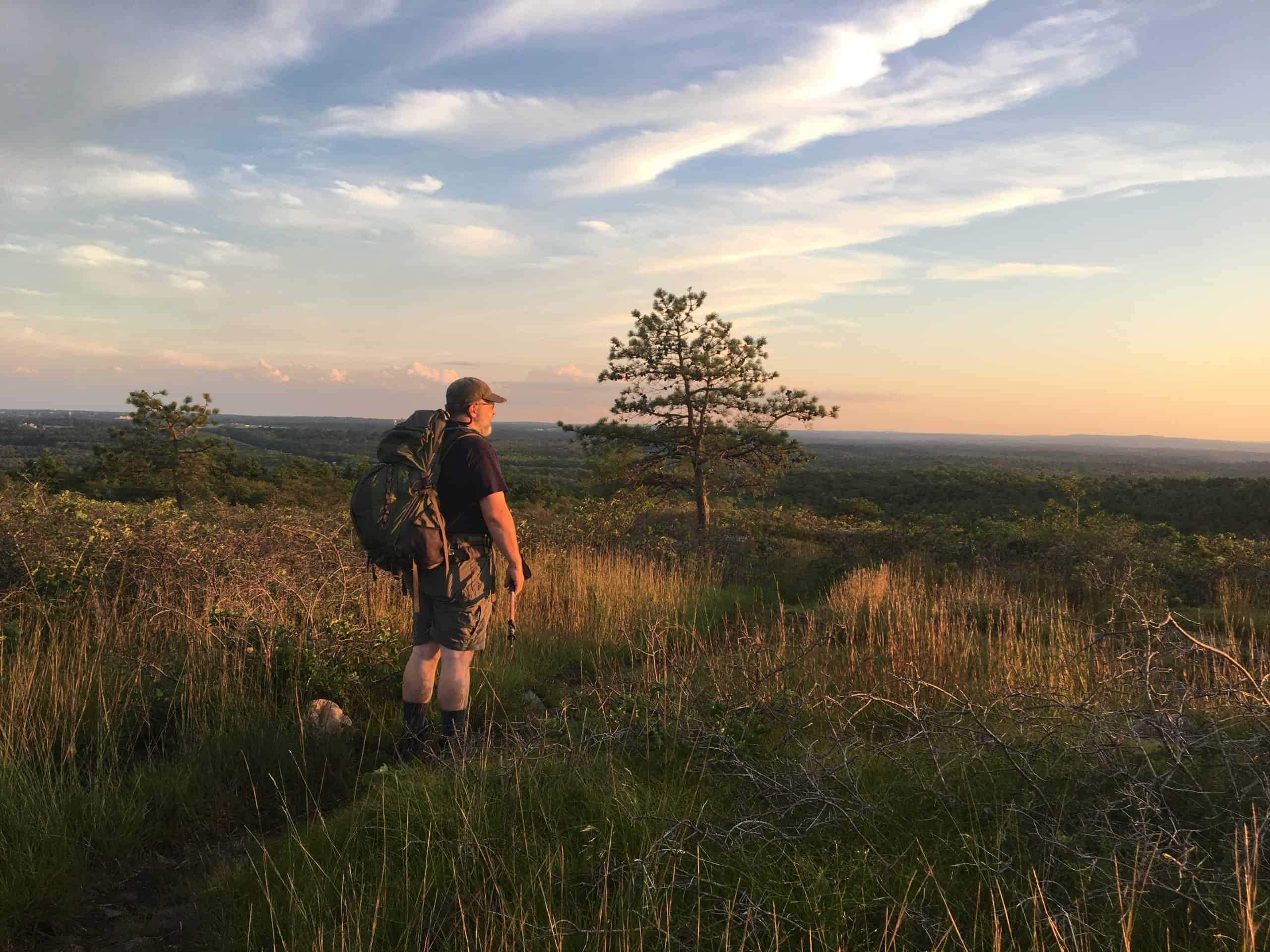 buck hill at sunset