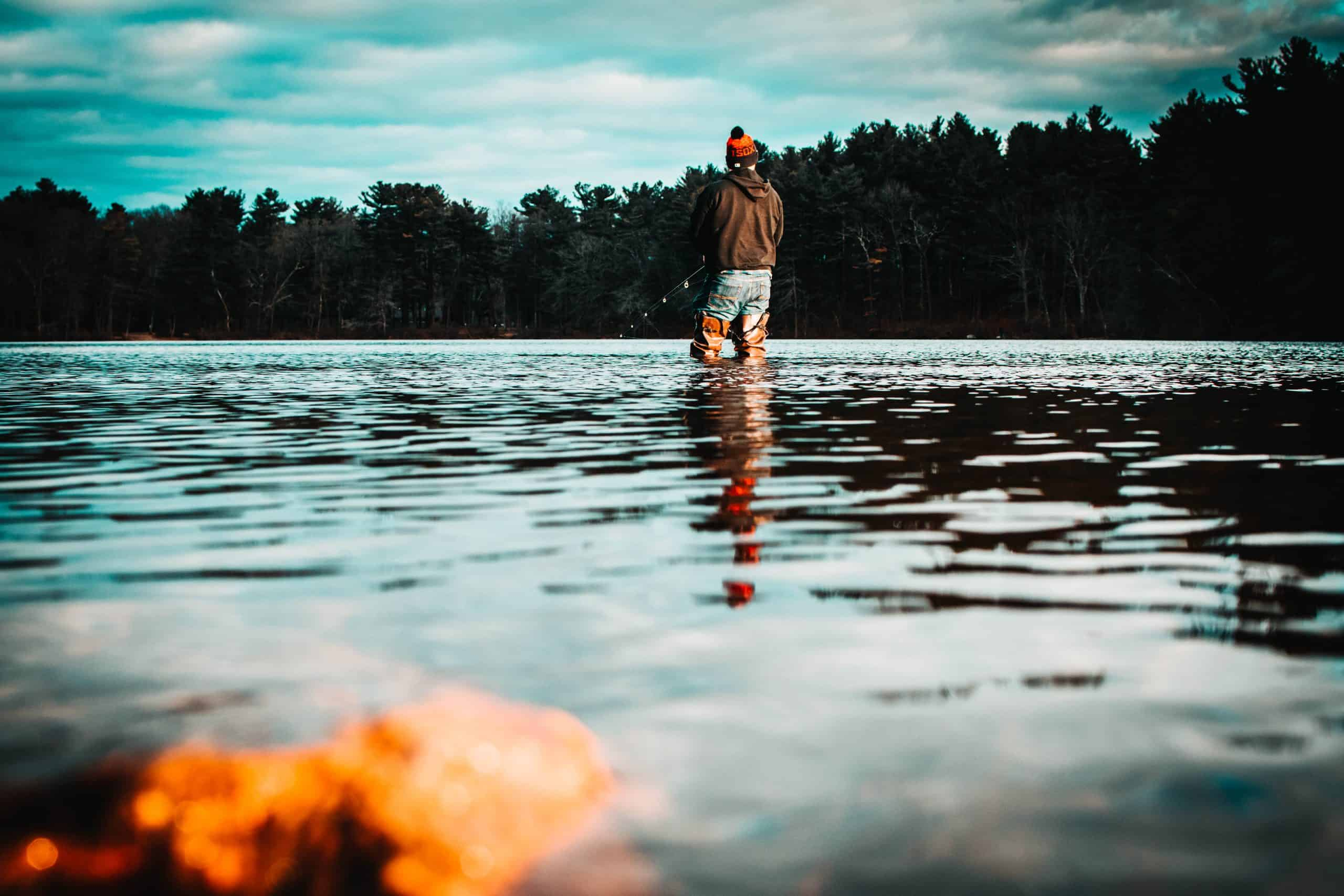 wading for brook trout