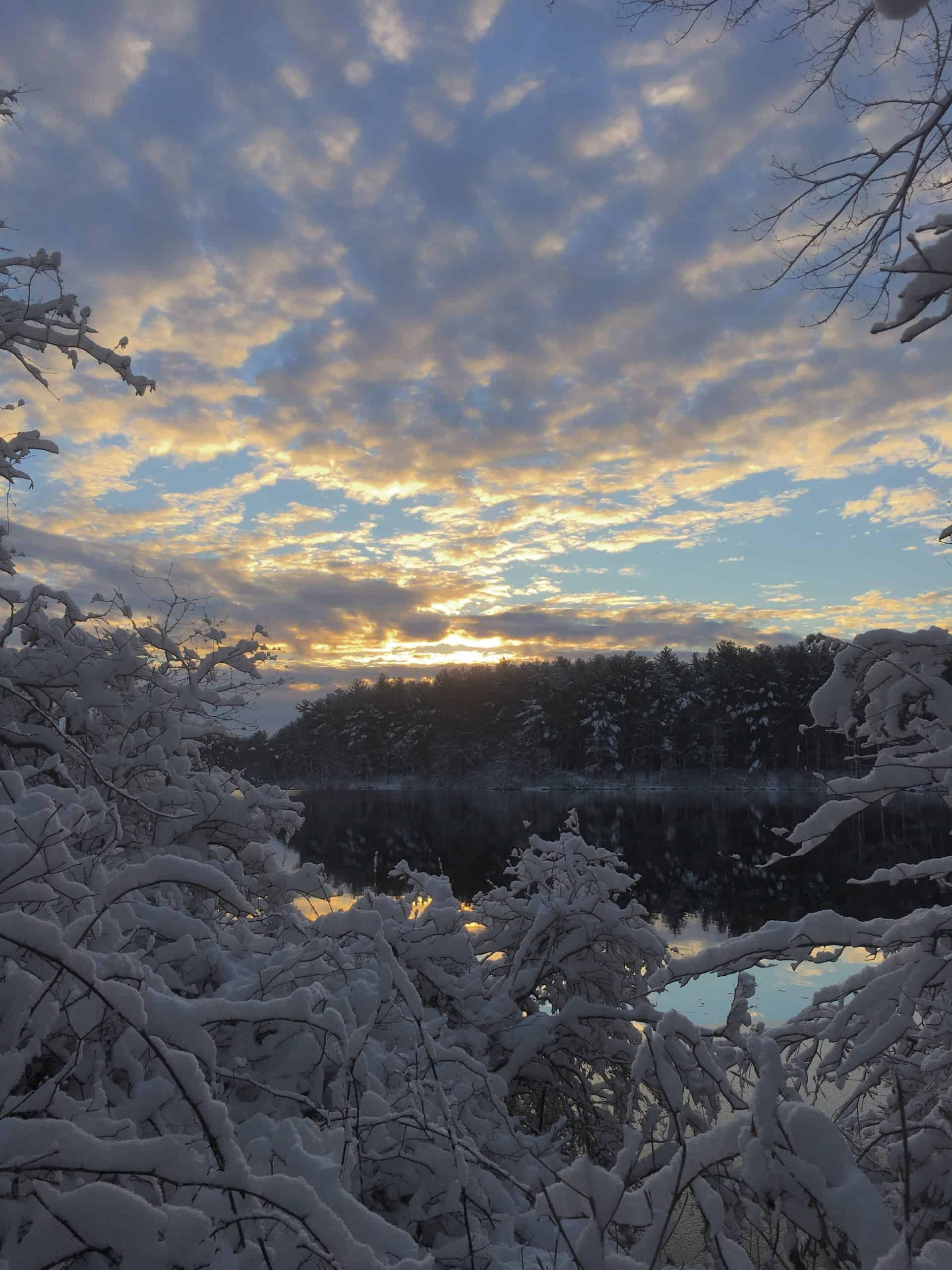 winter at houghtons pond
