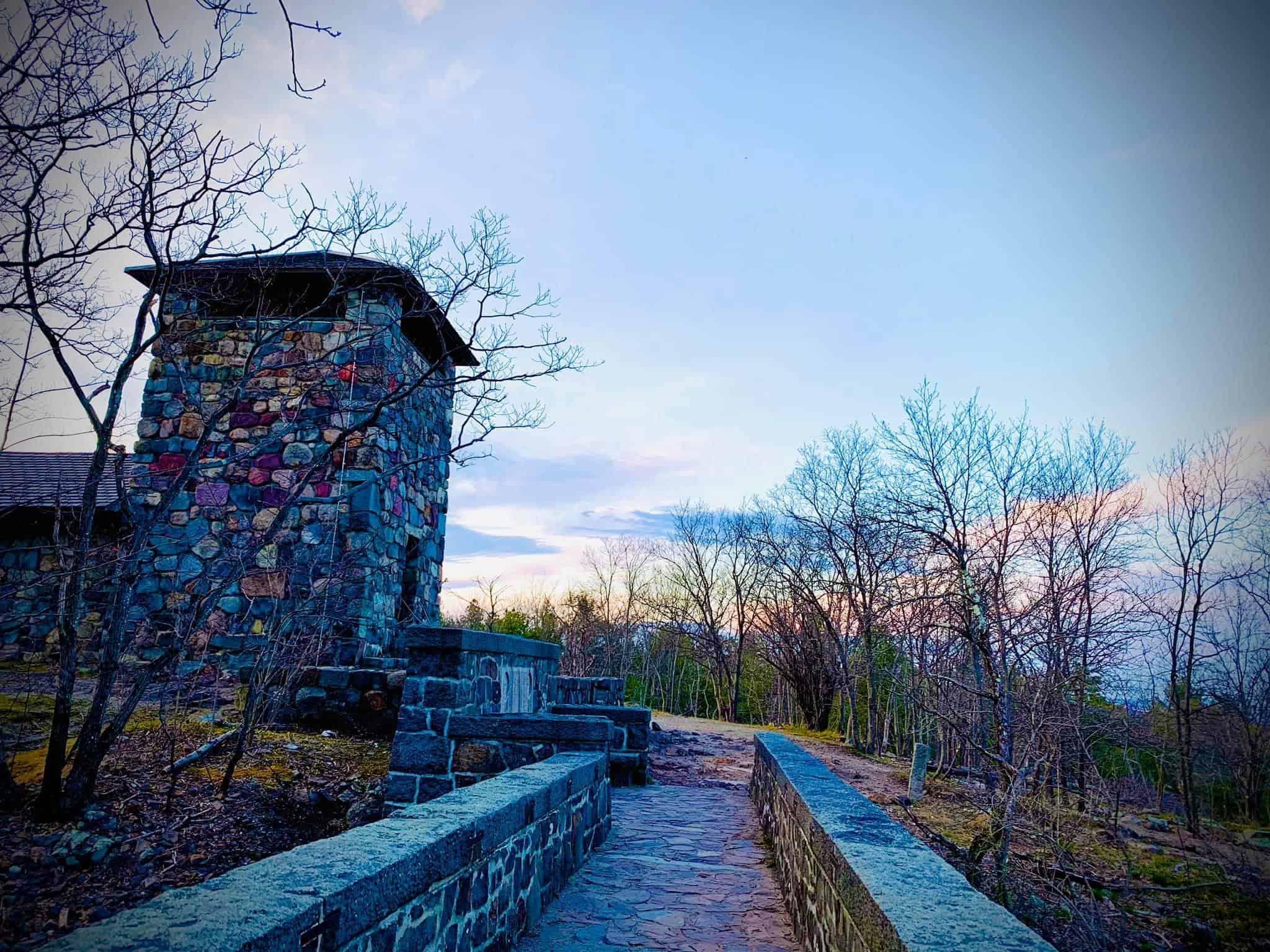 sunset on trailside museum
