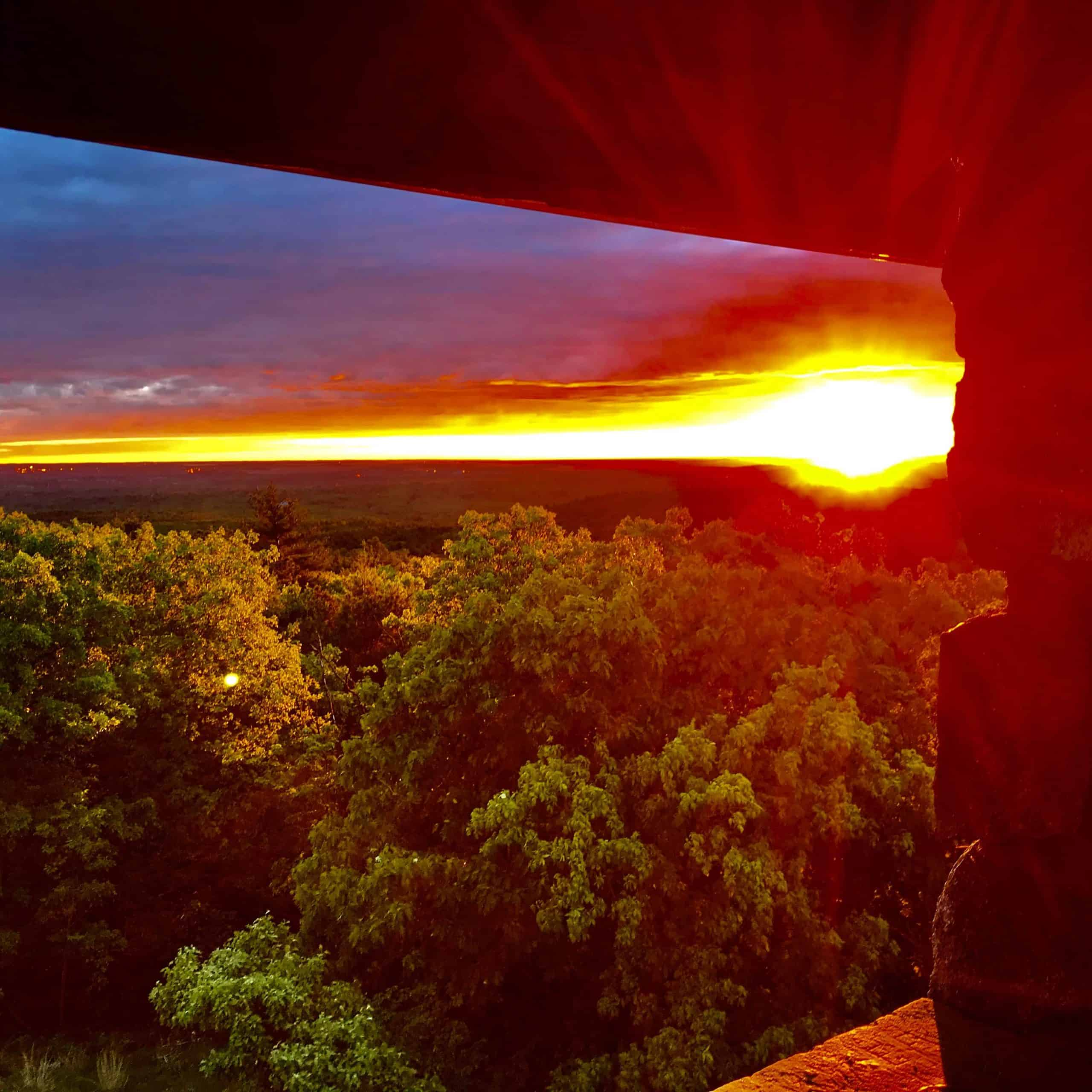 sunrise from the observation tower