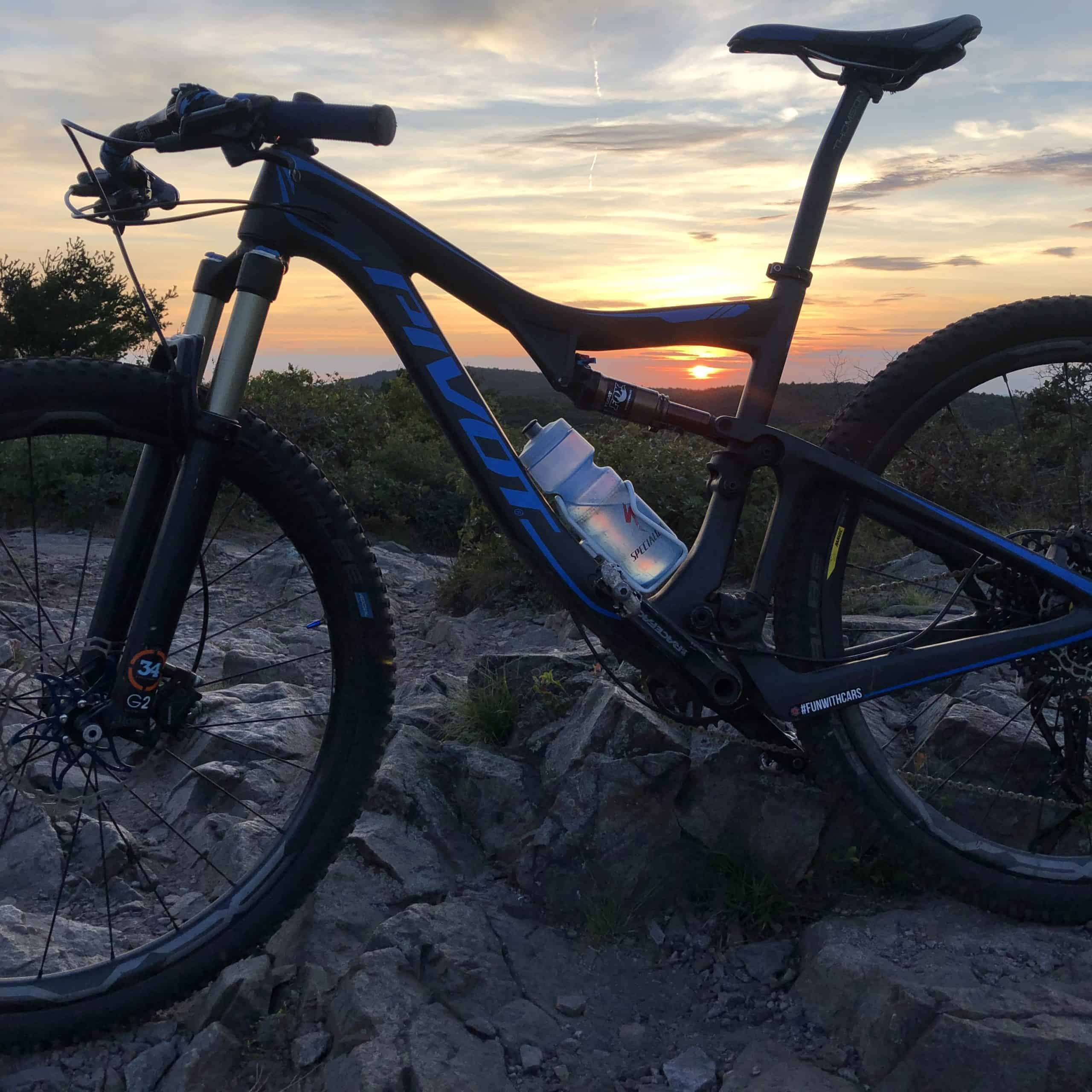 night mountain bike ride