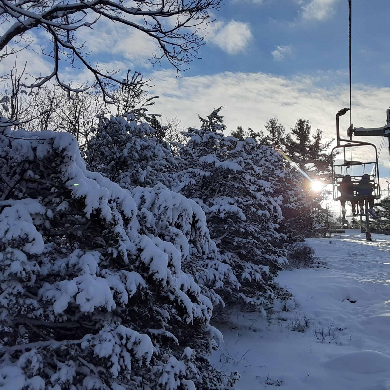 skyview on the ski lift
