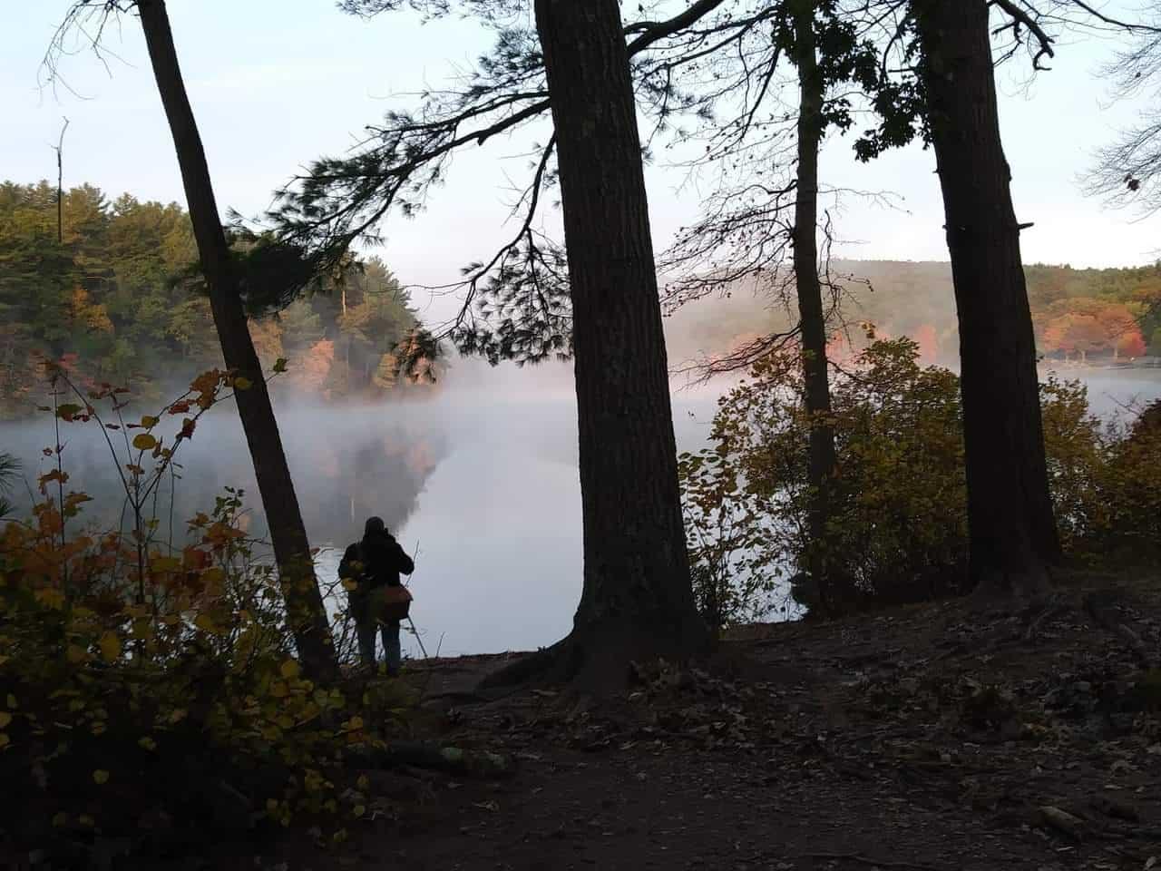 photographer on houghton s pond