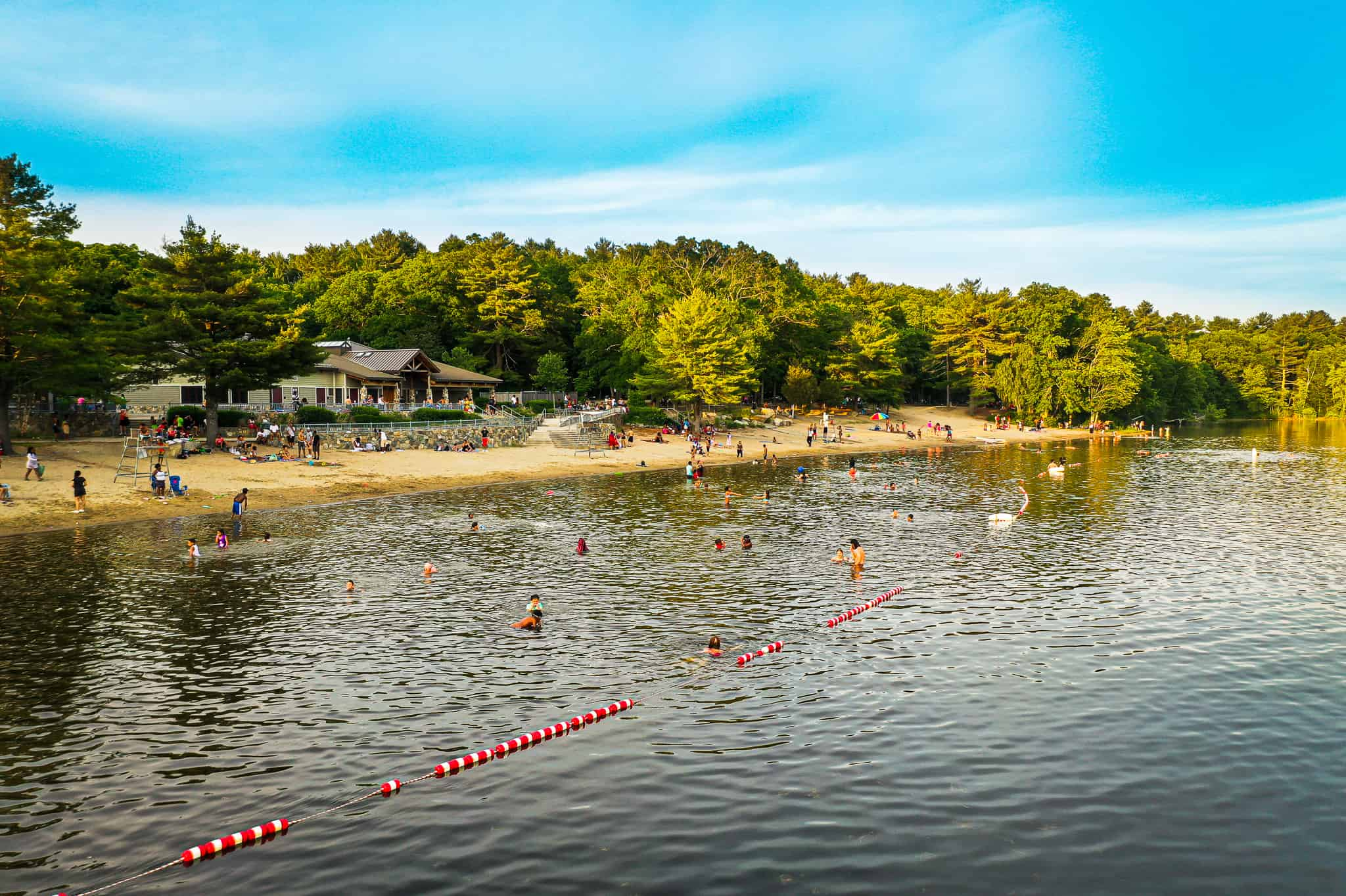 bathers at houghton s pond