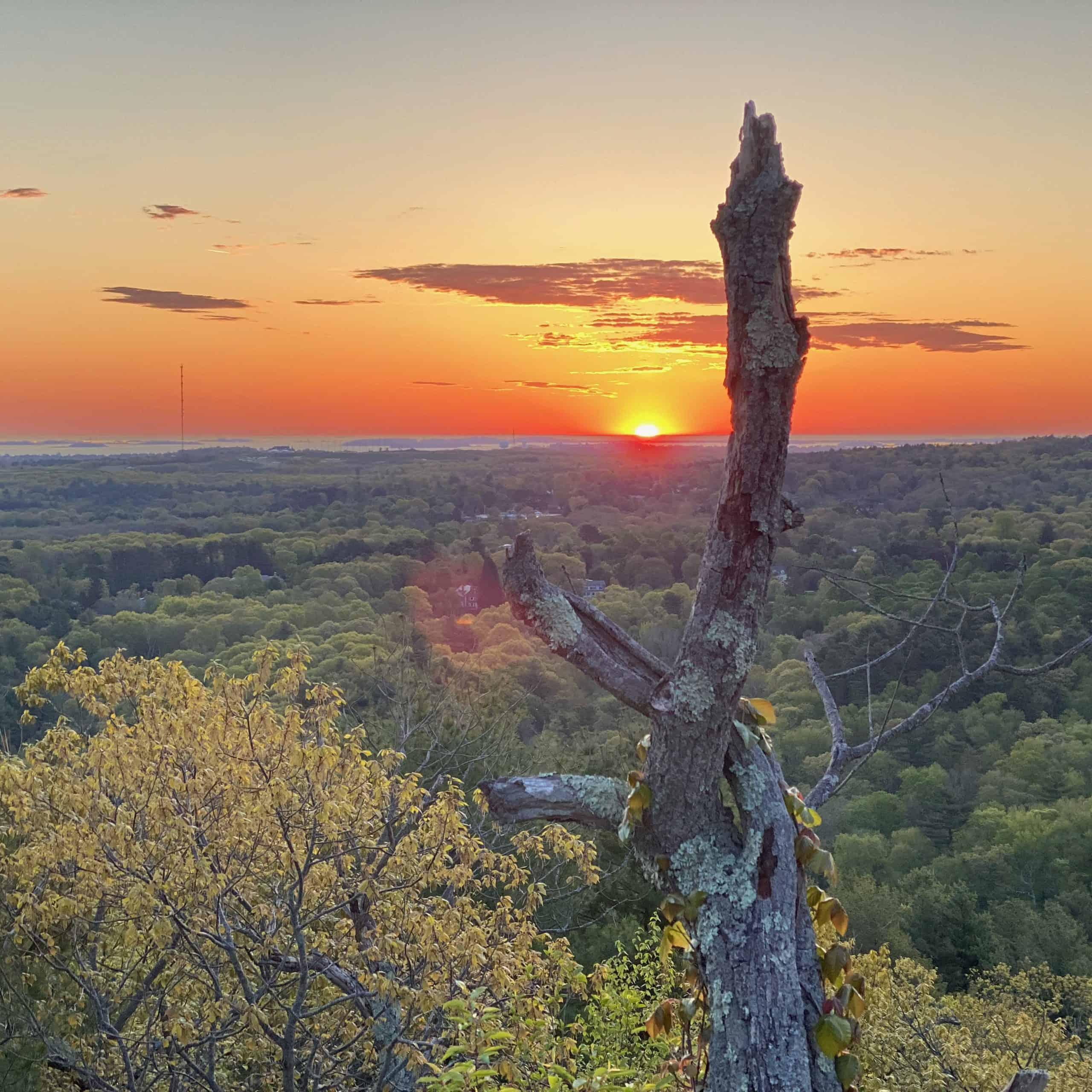 daybreak in the blue hills