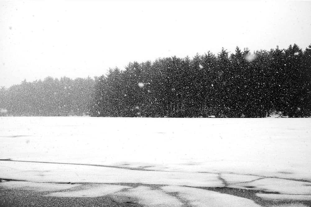 snow squall at houghton s pond